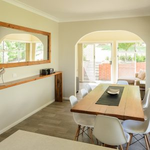 Southerly Change Gerroa holiday house kitchen & sunroom