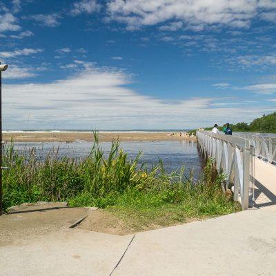 Footbridge Seven Mile Beach Crooked River Gerroa