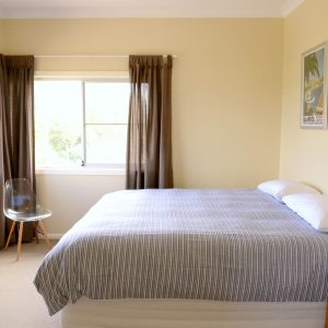 Front bedroom at Southerly Change, holiday house rental accommodation at Gerroa, Seven Mile Beach