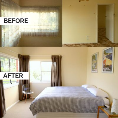Before & After front bedroom at Southerly Change, holiday accommodation at Seven Mile Beach, Gerroa
