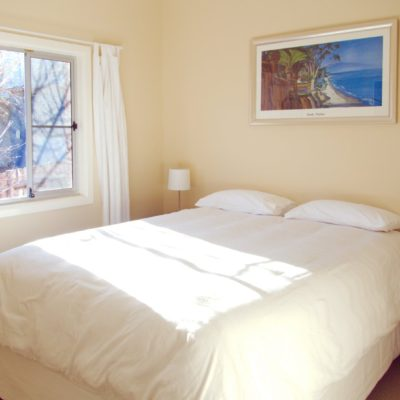 Queen bedroom at Southerly Change, holiday rental beach house at Seven Mile Beach, Gerroa