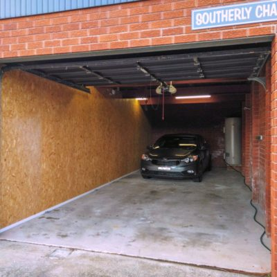 Spacious double garage at Southerly Change, holiday rental beach house at Gerroa NSW