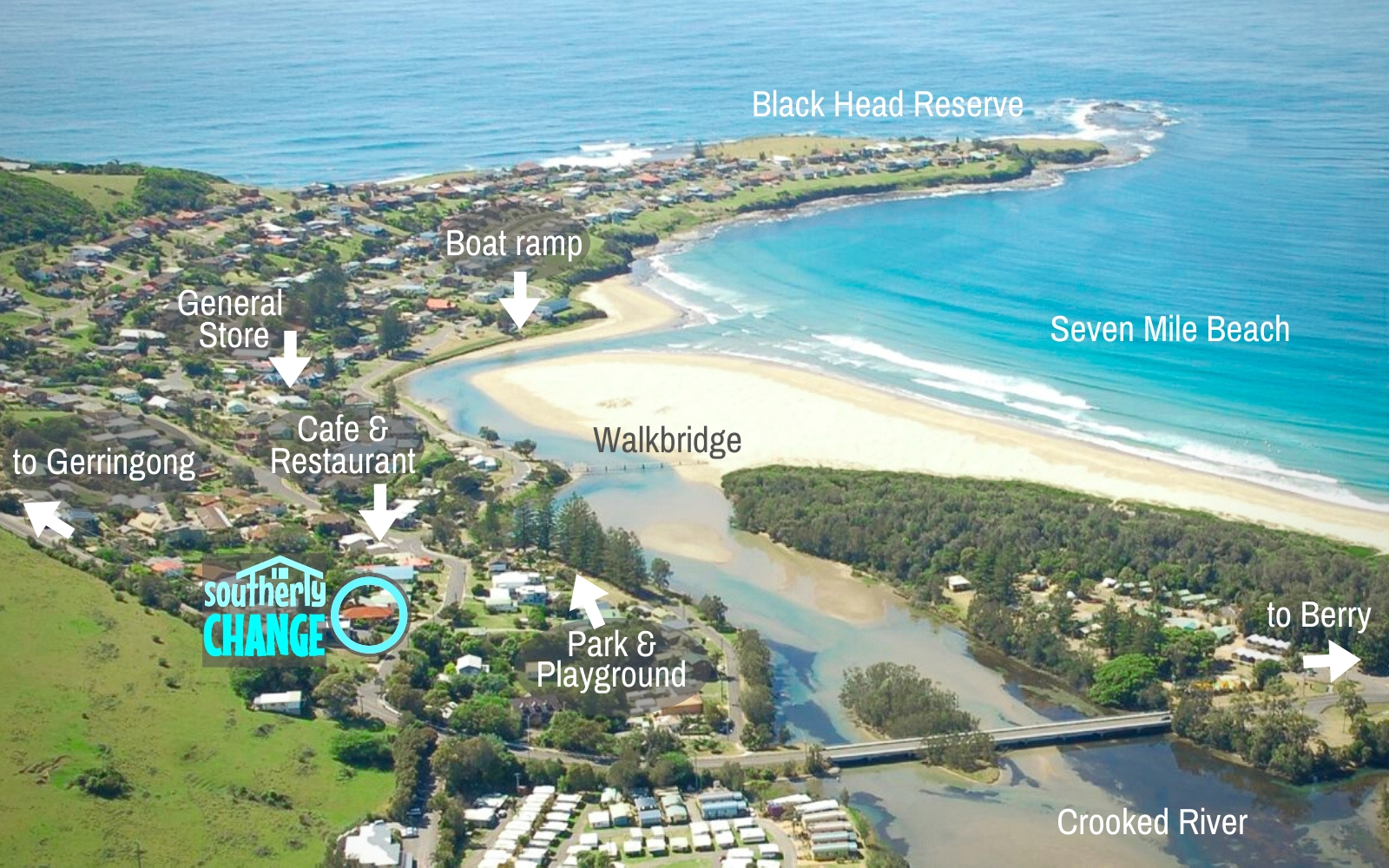 Seven Mile Beach Gerroa: Visitor's Photo Map