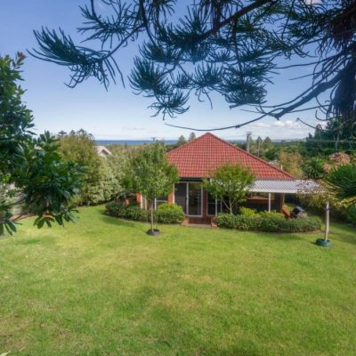 Beautiful fenced garden at Southerly Change, Gerroa holiday house accommodation at Seven Mile Beach, NSW
