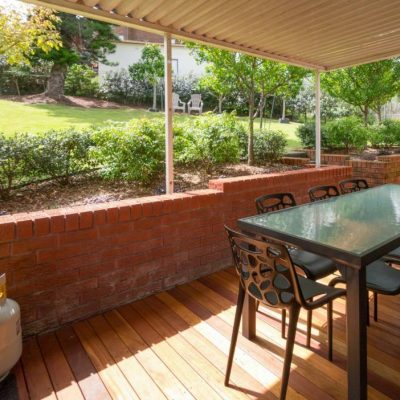 Deck with BBQ at Southerly Change, Gerroa holiday house accommodation at Seven Mile Beach, NSW