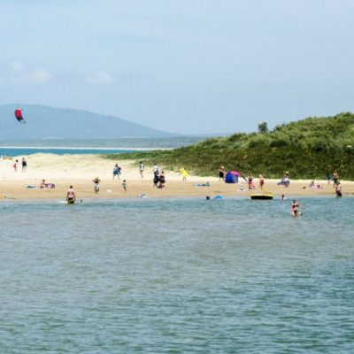 The river estuary at seven mile beach gerroa is great for swimming & the beach is famous for water sports