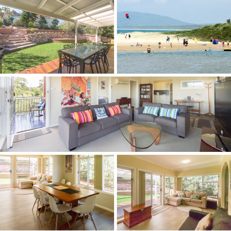 Southerly Change Gerroa holiday house rental accommodation picture collage